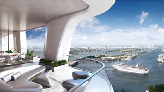 One Thousand Museum penthouse rendering