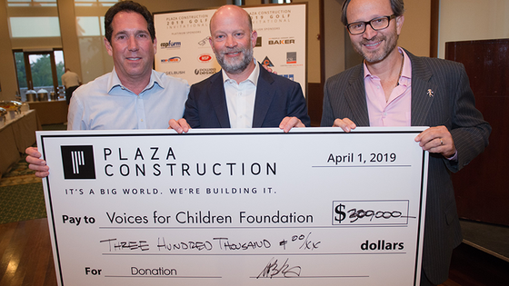Plaza Construction donates $300 mil from Golf fundraiser